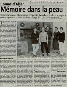 Article novembre 2006