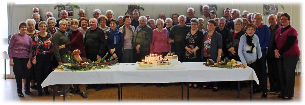 Les adhérents lors de la journée anniversaire des 10 ans de l'association